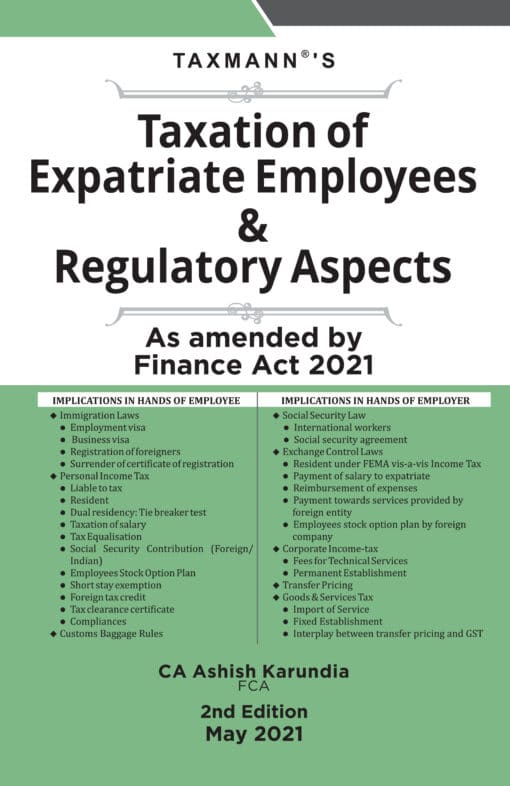 Taxmann's Taxation of Expatriate Employees & Regulatory Aspects by Ashish Karundia - 2nd Edition May 2021