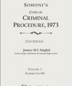 Lexis Nexis's Code of Criminal Procedure,1973 by Sohoni - 22nd Edition 2018