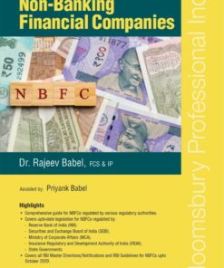 Bloomsbury's Handbook of Non-Banking Financial Companies by Dr Rajeev Babel - 1st Edition October 2020