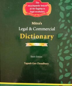 Mitra's Legal & Commercial Dictionary by Tapash Gan Choudhury