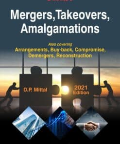 Bharat's Mergers, Takeovers, Amalgamation by D.P. Mittal - 1st Edition 2021