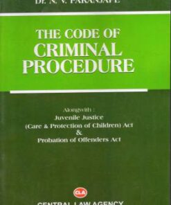 CLA's The Code of Criminal Procedure by Dr. N.V. Paranjape - 7th Edition 2019