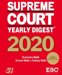 EBC's Supreme Court Yearly Digest 2020 by Surendra Malik and Sudeep Malik - Edition 2021