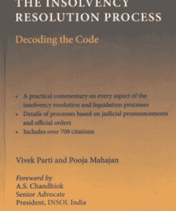 Thomson's Handbook on the Insolvency Resolution Process - Decoding the Code by Vivek Parti - 1st Edition 2021
