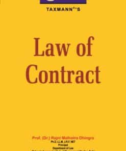 Taxmann's Law of Contract by Rajni Malhotra Dhingra - Edition February 2021